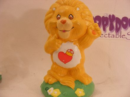 "VINTAGE 4"" CERAMIC BRAVEHEART LION CARE BEARS COUSIN"